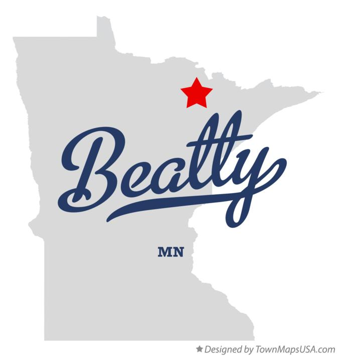 Map of Beatty Minnesota MN