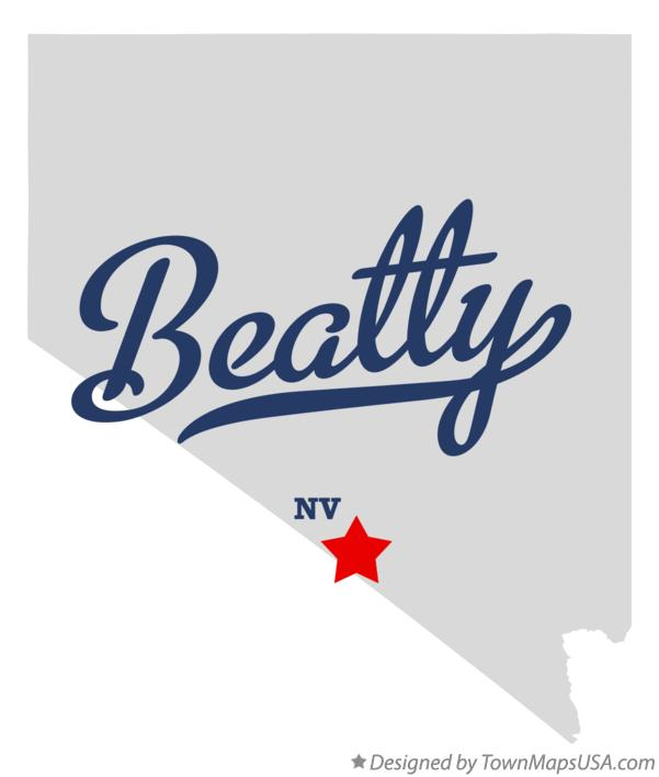 Map of Beatty Nevada NV