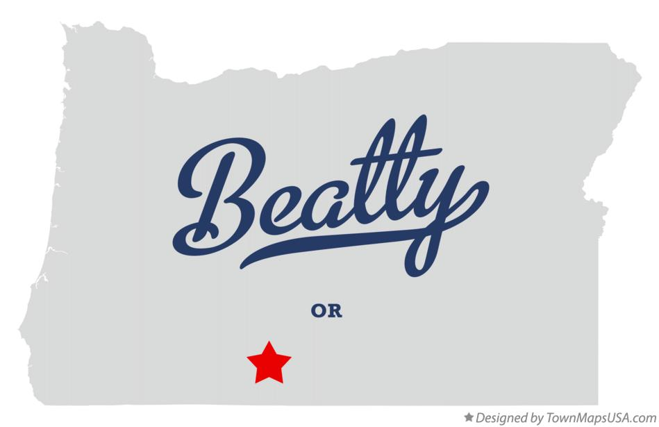 Map of Beatty Oregon OR