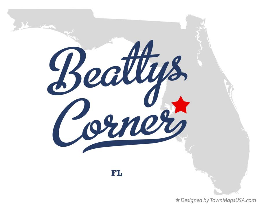 Map of Beattys Corner Florida FL