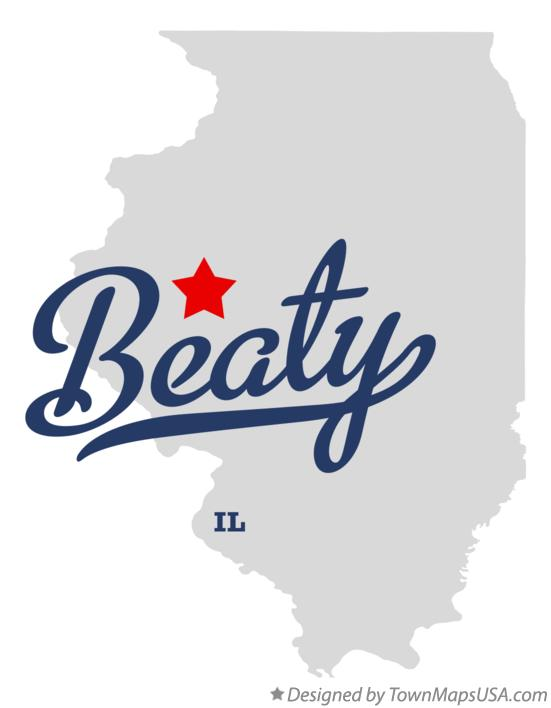 Map of Beaty Illinois IL