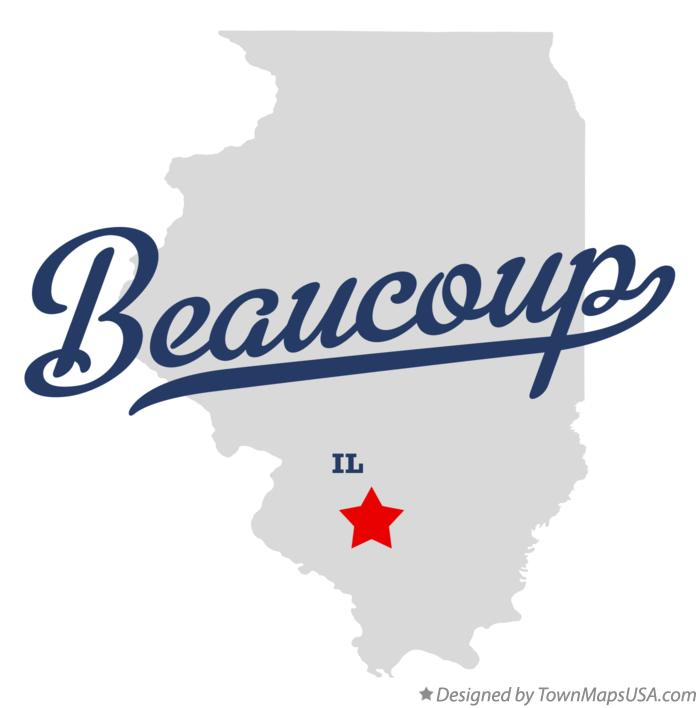 Map of Beaucoup Illinois IL