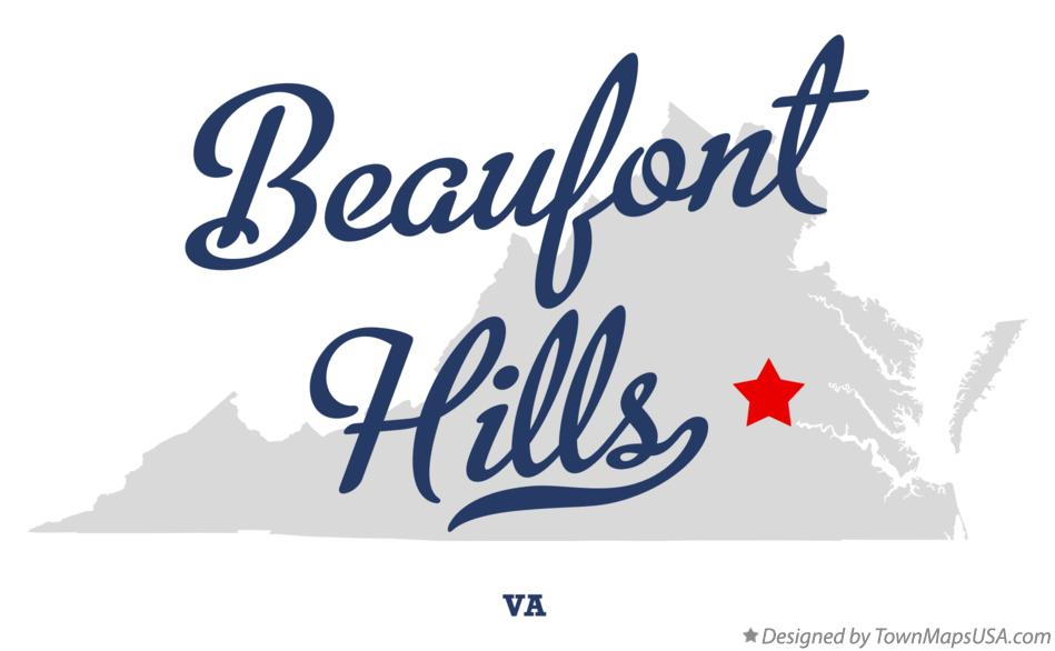 Map of Beaufont Hills Virginia VA
