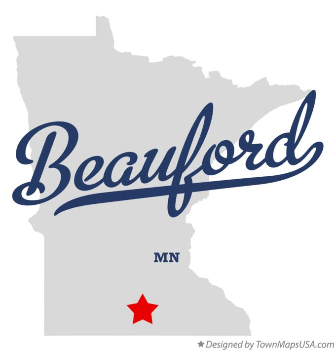 Map of Beauford Minnesota MN