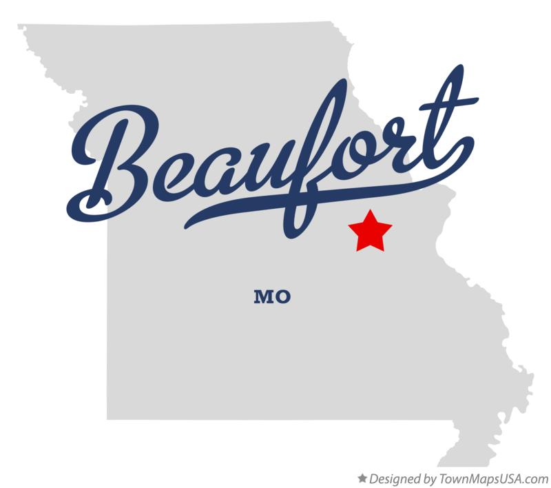 Map of Beaufort Missouri MO