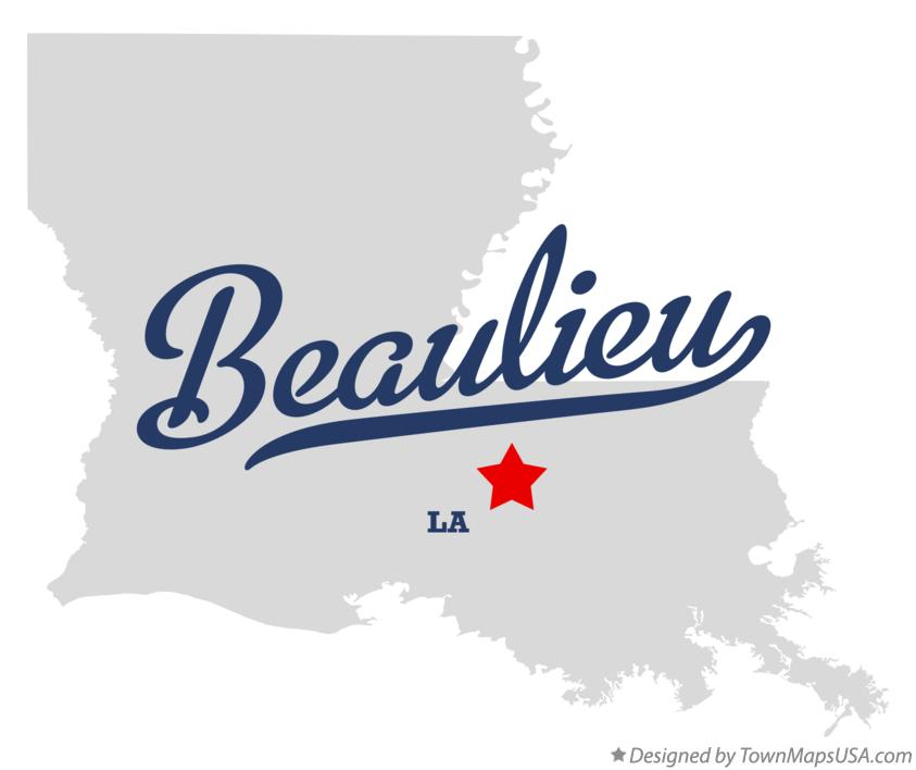 Map of Beaulieu Louisiana LA