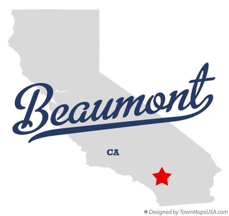 Map of Beaumont California CA