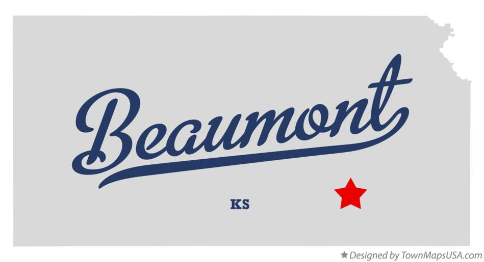 Map of Beaumont Kansas KS