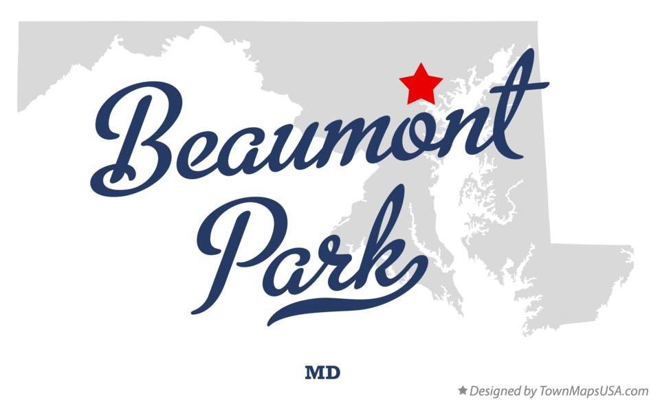 Map of Beaumont Park Maryland MD