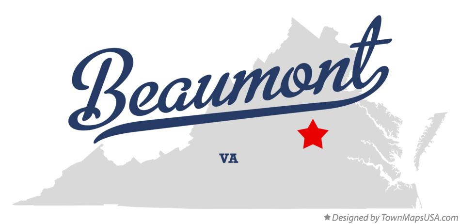 Map of Beaumont Virginia VA