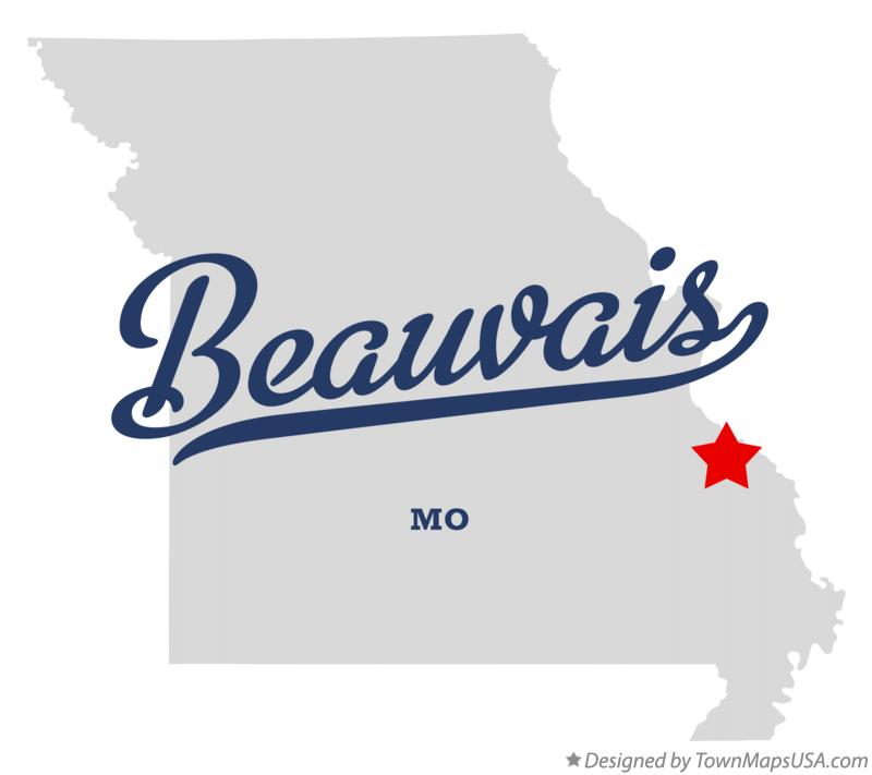 Map of Beauvais Missouri MO