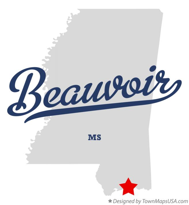 Map of Beauvoir Mississippi MS