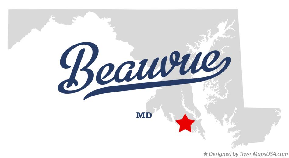 Map of Beauvue Maryland MD
