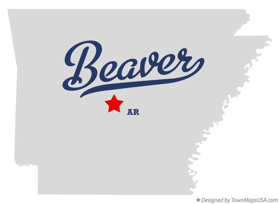 Map of Beaver Arkansas AR
