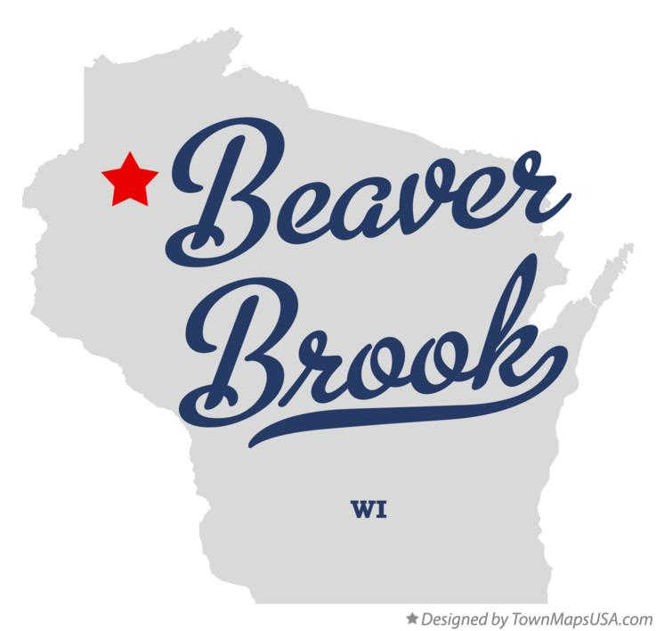 Map of Beaver Brook Wisconsin WI