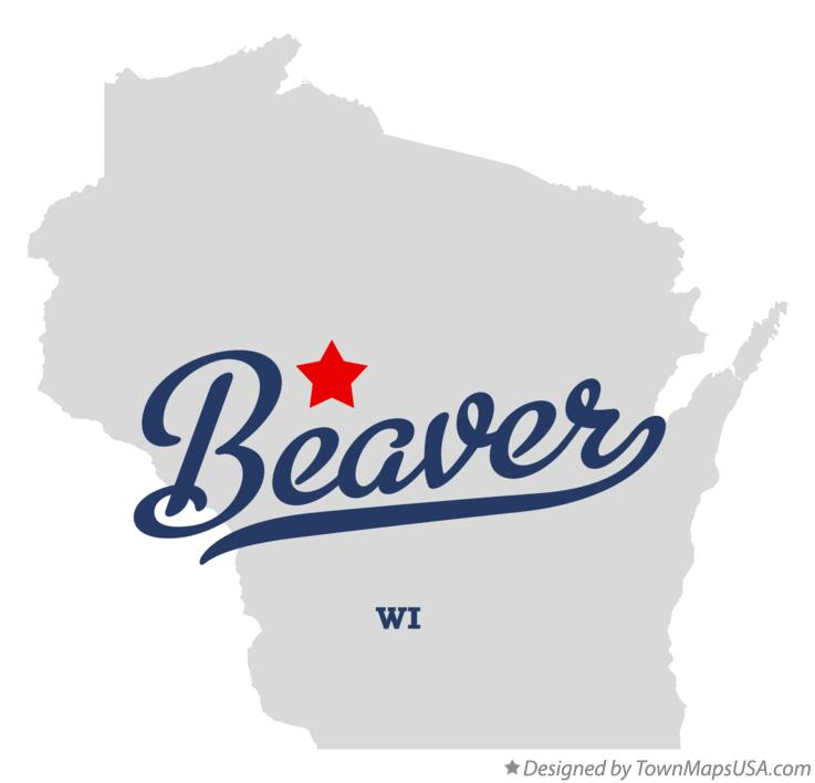 Map of Beaver Wisconsin WI