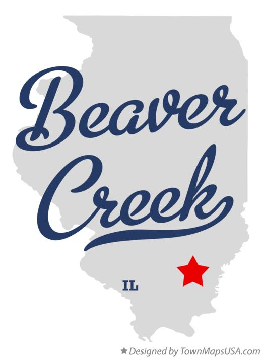 Map of Beaver Creek Illinois IL