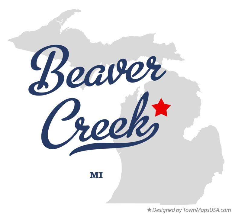 Map of Beaver Creek Michigan MI