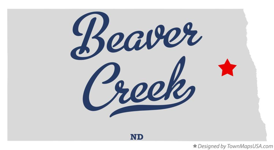 Map of Beaver Creek North Dakota ND
