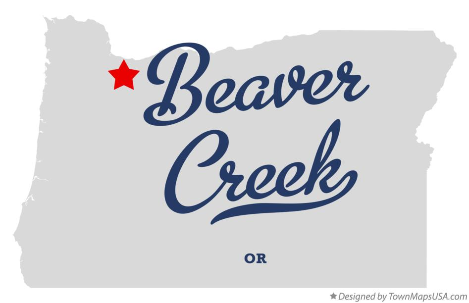 Map of Beaver Creek Oregon OR