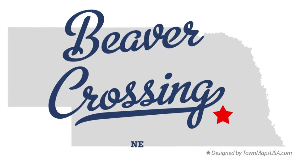 Map of Beaver Crossing Nebraska NE