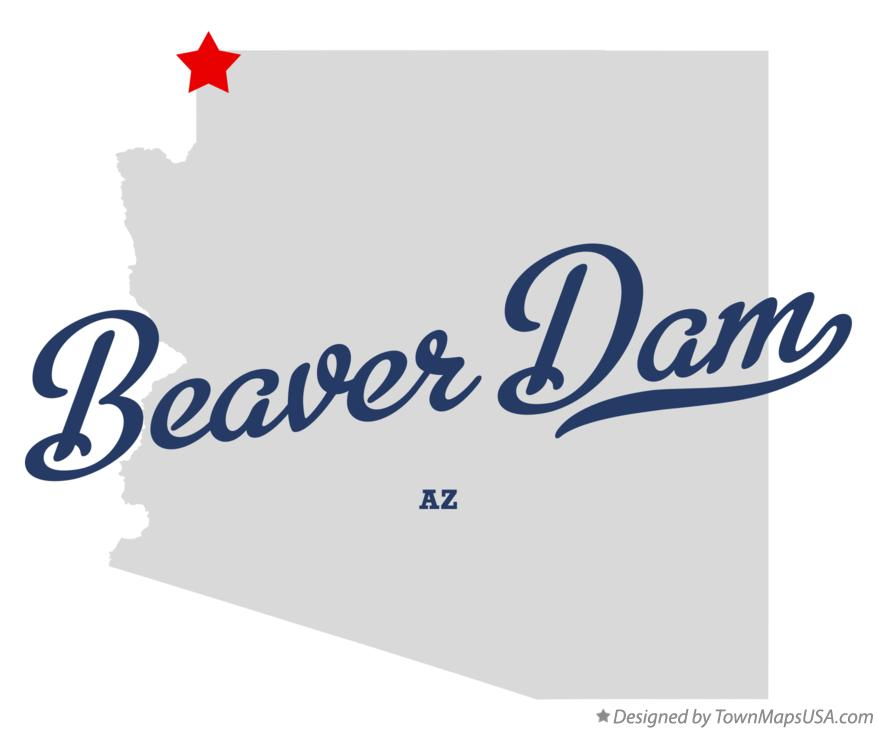 Map of Beaver Dam Arizona AZ
