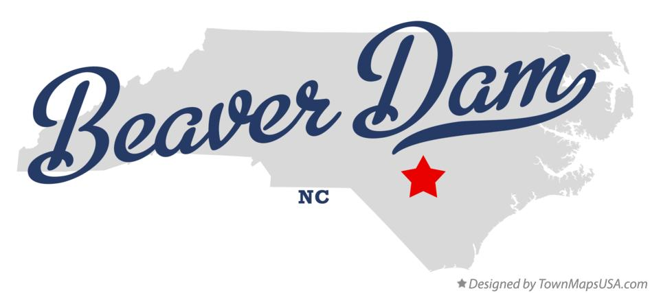 Map of Beaver Dam North Carolina NC