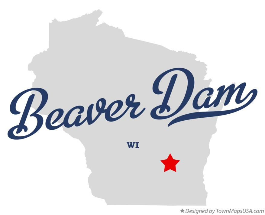 Map of Beaver Dam Wisconsin WI