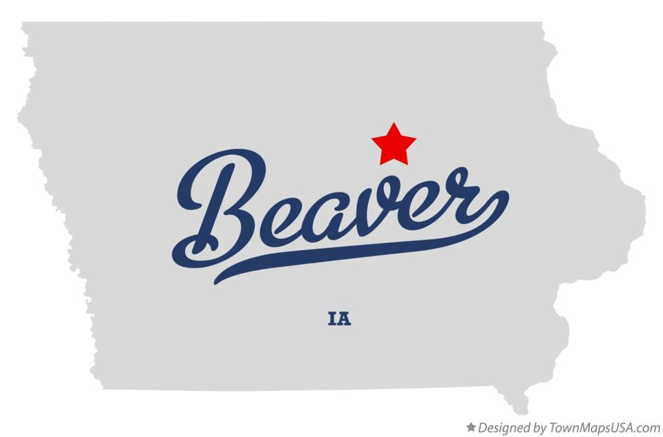 Map of Beaver Iowa IA