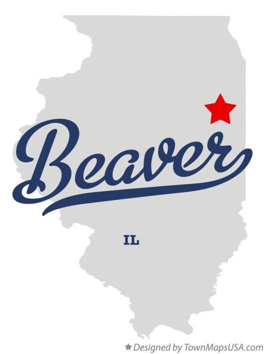 Map of Beaver Illinois IL