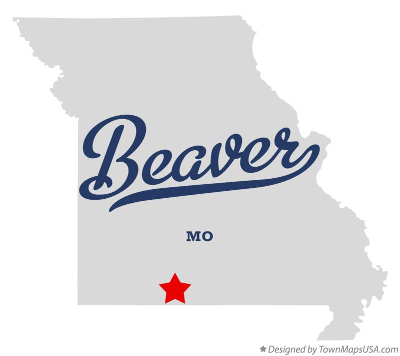 Map of Beaver Missouri MO
