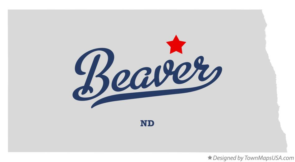 Map of Beaver North Dakota ND