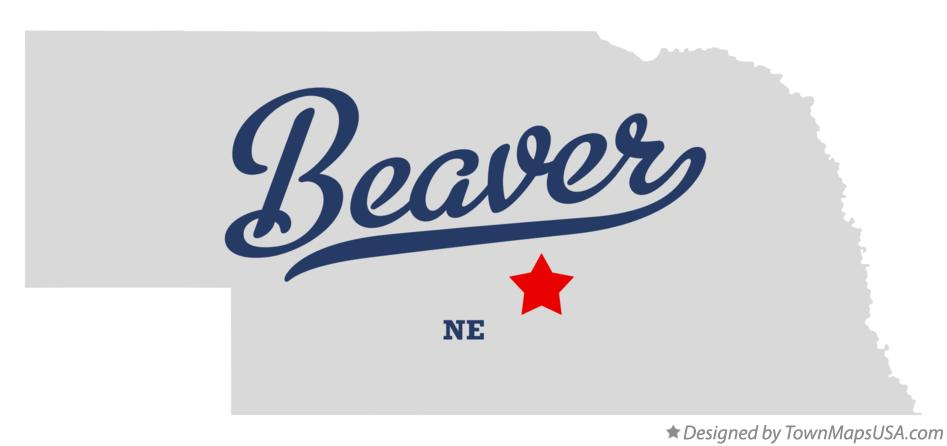 Map of Beaver Nebraska NE