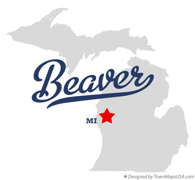 Map of Beaver Michigan MI
