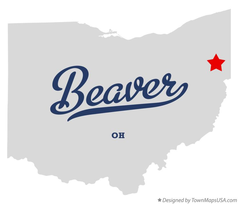 Map of Beaver Ohio OH