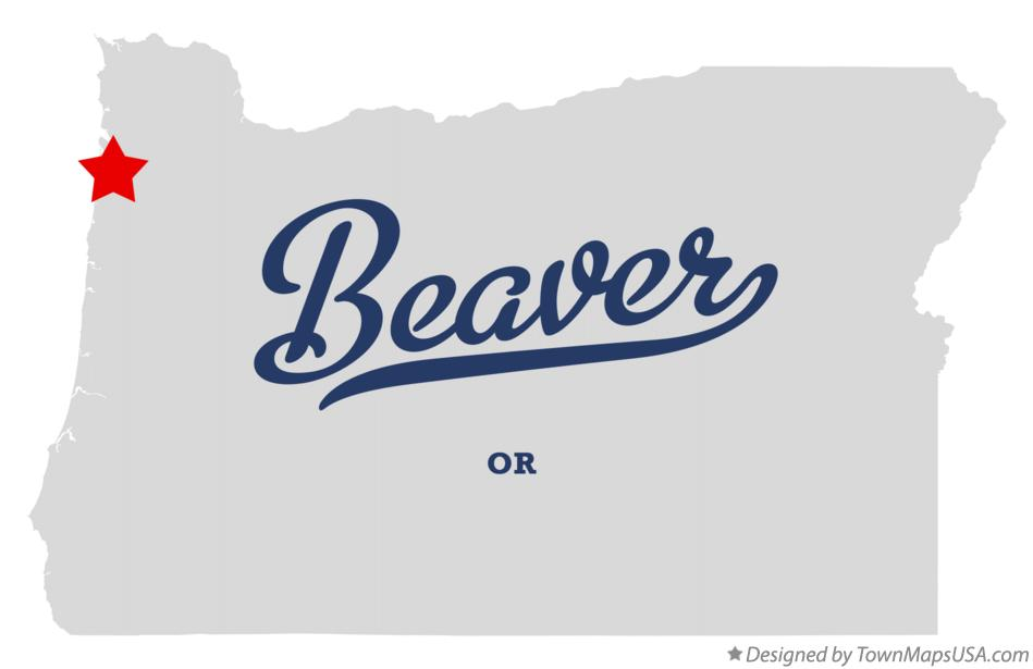 Map of Beaver Oregon OR