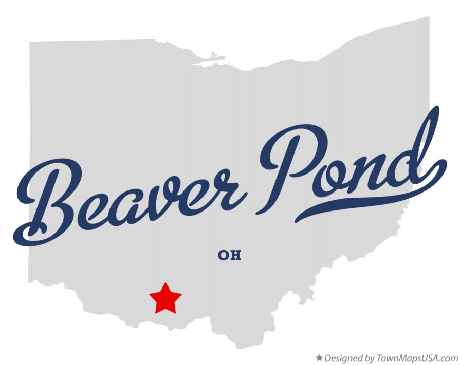 Map of Beaver Pond Ohio OH