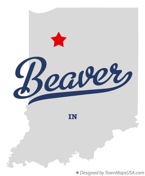 Map of Beaver Indiana IN