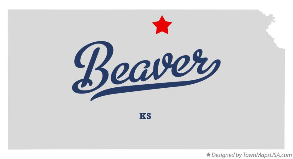 Map of Beaver Kansas KS