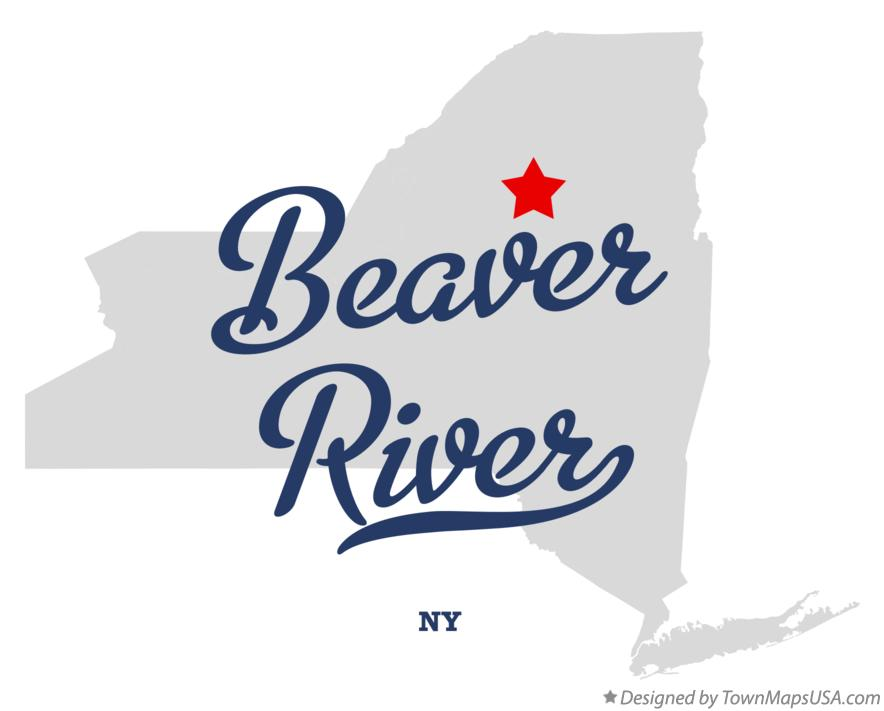 Map of Beaver River New York NY