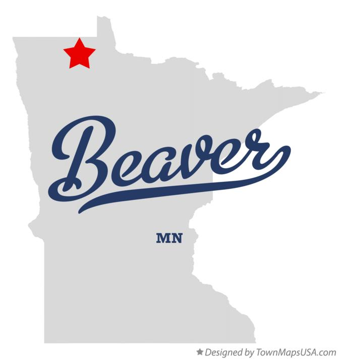 Map of Beaver Minnesota MN