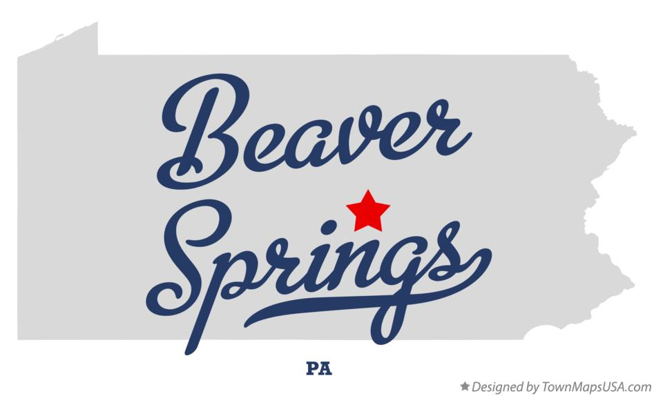 Map of Beaver Springs Pennsylvania PA