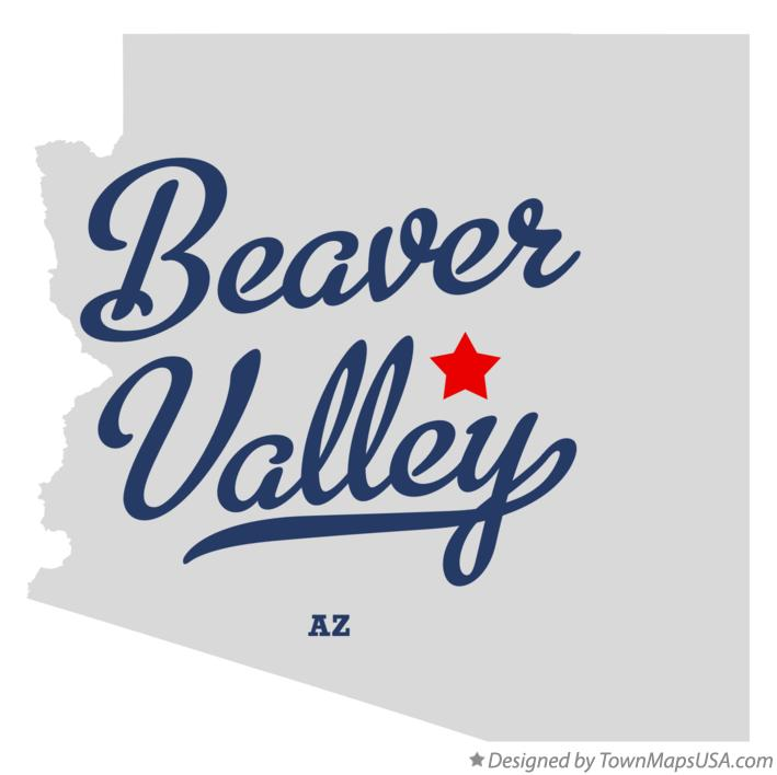 Map of Beaver Valley Arizona AZ