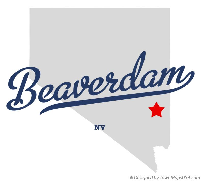 Map of Beaverdam Nevada NV