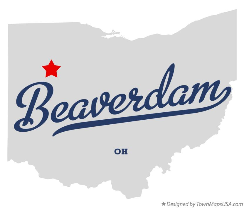 Map of Beaverdam Ohio OH