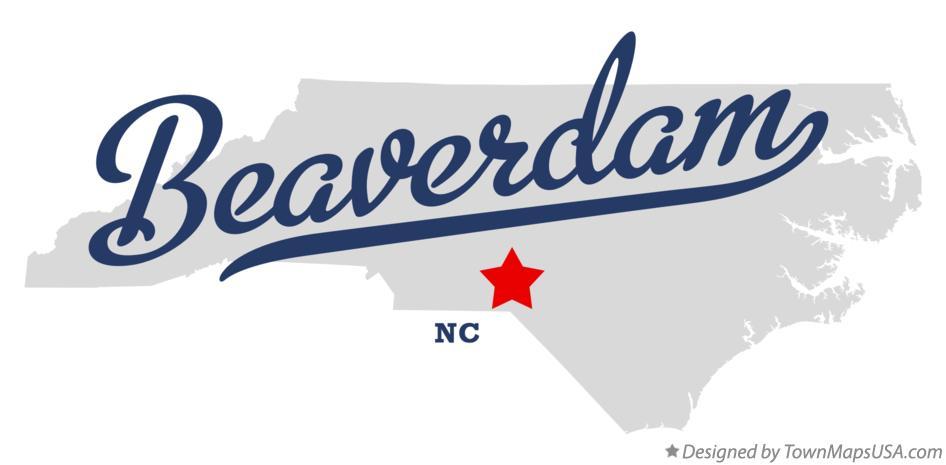 Richmond County Nc Map.Map Of Beaverdam Richmond County Nc North Carolina