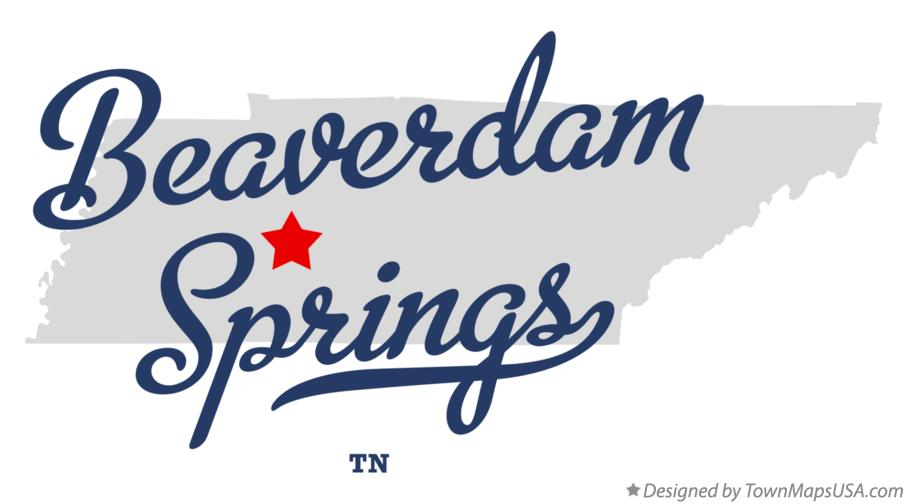 Map of Beaverdam Springs Tennessee TN