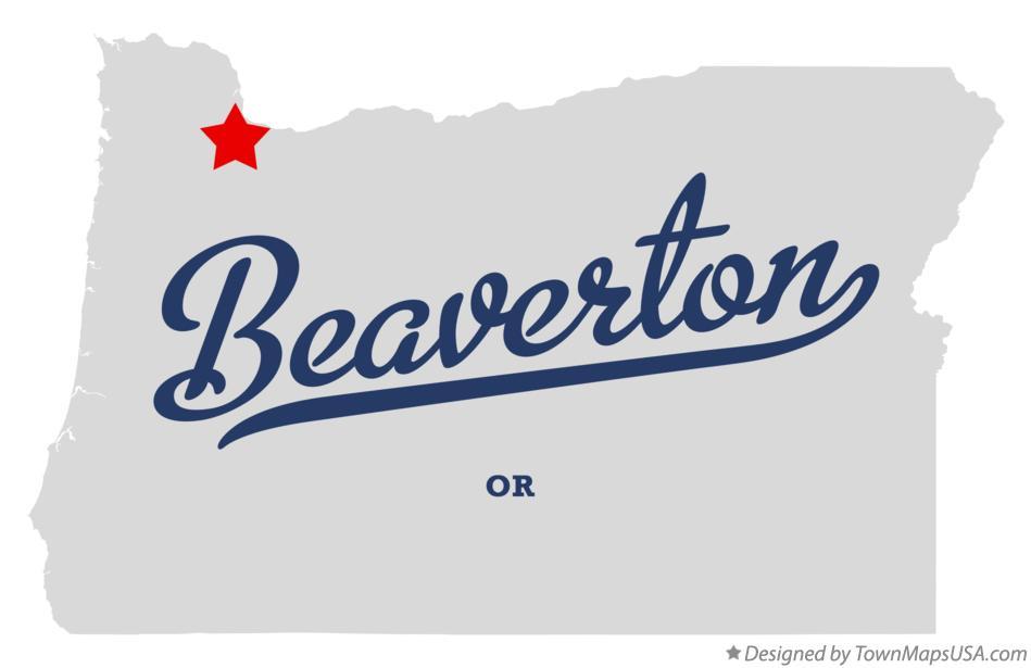 Map Of Beaverton Or Oregon