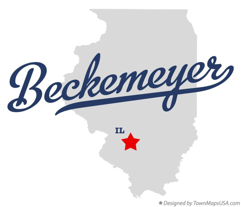 Map of Beckemeyer Illinois IL