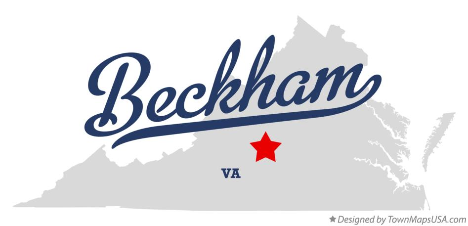 Map of Beckham Virginia VA